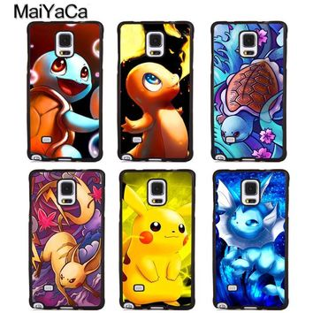 MaiYaCa Charizard Squirtle Vaporeon s Phone Cases For Samsung Galaxy S5 S6 S7 edge Plus S8 S9 plus Note 4 5 8 Cover ShellKawaii Pokemon go  AT_89_9