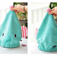 Elephant Hair Dryer Hat/Towel