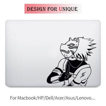 Naruto Sasauke ninja Kakashi Ninja Decal Laptop Sticker for Apple Macbook Pro Air Retina 11 12 13 15 inch Vinyl  Mac HP Acer Surface Book Skin AT_81_8