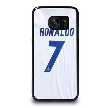 RONALDO CR7 JERSEY REAL MADRID Samsung Galaxy S7 Edge Case Cover