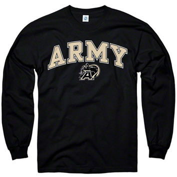 Army Black Knights Youth Black Perennial II Long Sleeve T-Shirt