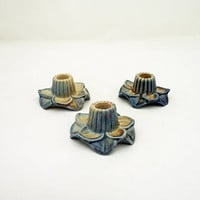 Wade Flower Candlestick Holders, Set of 3 Wade Candlestick Holders, Collectable Wade