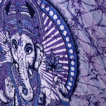 Ganesha Hippie Tapestry Hippie Wall Hanging Indian by THEWALLARTS