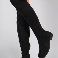 Caitlyn Black Over the Knee  Boots