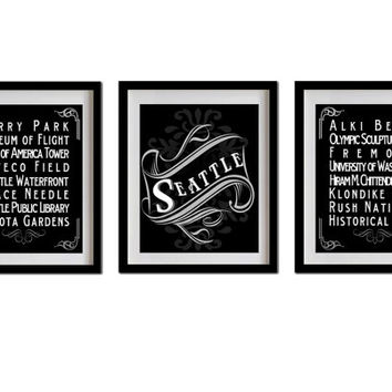 Seattle Wall Art shop seattle decor on wanelo