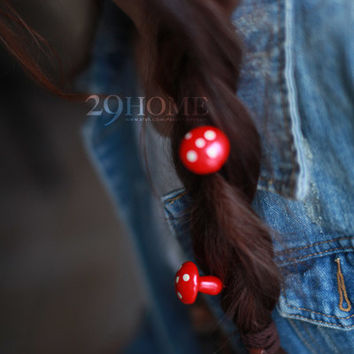 Mushroom hairpin jewelry for her him beautiful surprise gift 9