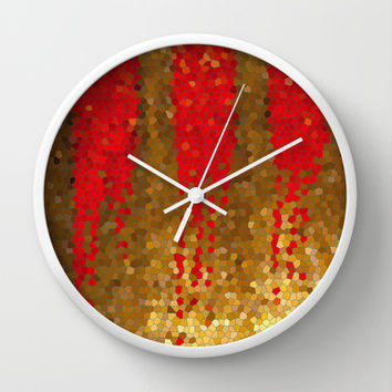 NEW BLOOD Wall Clock by Bruce Stanfield