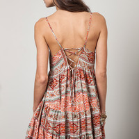 This easy breezy dress features tiered ruffle aline design, scoop neckline, sleeveless, slip on style, adjustable thin spaghetti shoulder straps, and finish with low scoop back, bohemian printed throughout. Unlined. Pair with gladiator or strappy sandals.