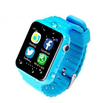Children Security GPS Smart watch V7K 1.54'' Screen With Camera facebook SOS Call Location Devicer Tracker for IOS&Android