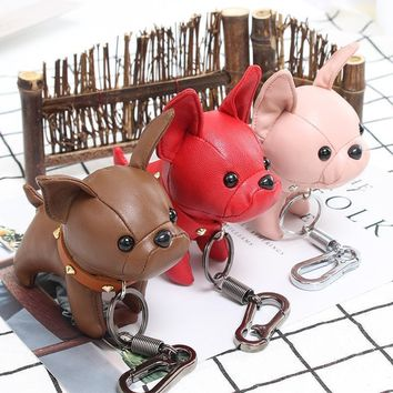 Handmade French Bulldog Keychain
