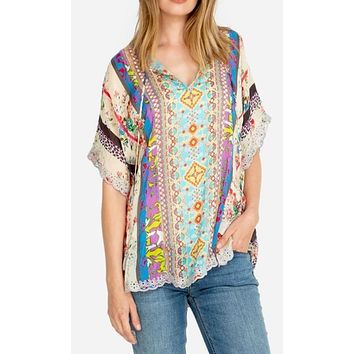 Johnny Was Floral Blouse~ Multi