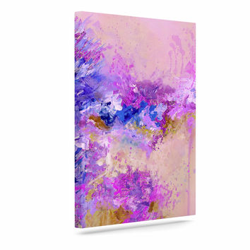 "Ebi Emporium ""When Land Met Sky 2"" Purple Pink Canvas Art"