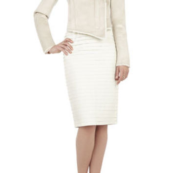 BCBG Clint Draped-Collar Jacket