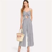 Cut Out Knot Front Jumpsuit
