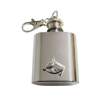 Horse Head 1 Oz. Stainless Steel Key Chain Flask