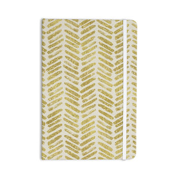 "888 Design ""Golden Vision"" Yellow White Everything Notebook"