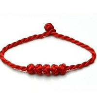 Good Luck Kabbalah Knotted Red String of Faith Rope Bracelet (For Small Wrist) - 100% Money Back Guarantee