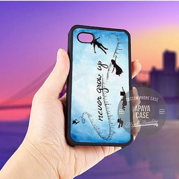 Peter Pan Never Grow Up on Star Sky Galaxy case for iPhone 5/5s/5c/4/4s/6/6+,iPod 4th 5th,Samsung Galaxy S3/S4/S5,Note 2/3,HTC One,LG Nexus