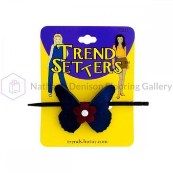 Butterfly Hair Clip With Wooden Stick BI700