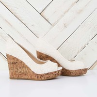Altar'd State White Lace Wedge | Altar'd State