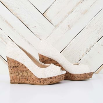 Altar'd State White Lace Wedge   Altar'd State