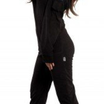 Back in Black - Hooded Footed Pajamas - Pajamas Footie PJs Onesuit One Piece Adult Pajamas - JumpinJammerz.com