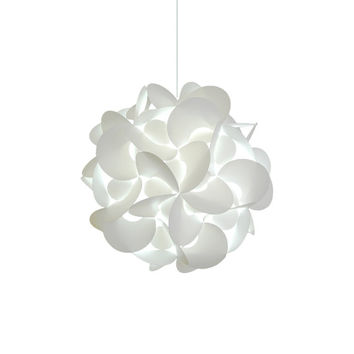 "Akari Lanterns Medium Rounds 18"" Cool White Glow Modern Ceiling Hanging Light Fixtures Plug in or Hardwire as Pendant Lamp bulb included"