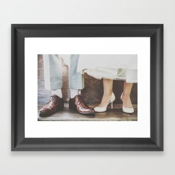 Vintage Swing Couple Shoes Framed Art Print by The Backwater Co
