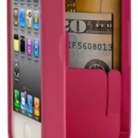 Happy Birthday! - Pink Case for iPhone 4/4S with built-in storage space for credit cards/ID/money, by EYN (Everything You Need)