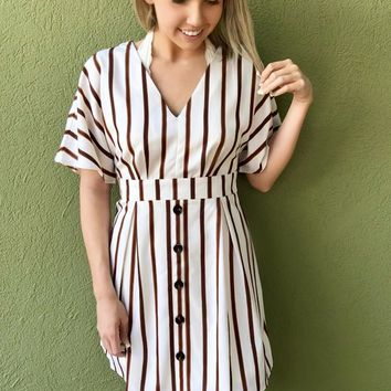 Fall Is In The Air Dress - Ivory