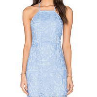 Nina Midi Dress in Crystal Blue