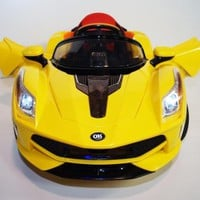 Limited Sport LaFerrari Style Kids Ride On Car Music, Lights, MP3, R/C -Yellow