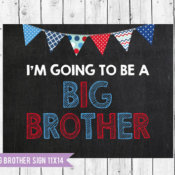 Big brother sign // baby announcement // big brother chalkboard // pregnancy announcement // Chalkboard sign // Photo Prop
