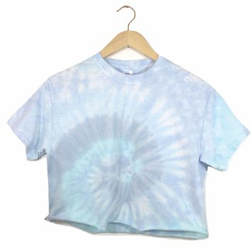 Waterfall Tie-Dye Cropped Unisex Tee