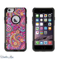iPhone Otterbox Commuter Series Case for iPhone 5/5s, 6/6s, 6 Plus/6s Plus Preppy Pink Paisley Girls Phone Case Otter Box LifeProof 1125