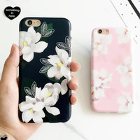 Unique Floral iPhone 7 7Plus & iPhone se 5s 6 6 Plus Case Best Protection Cover +Gift Box-518