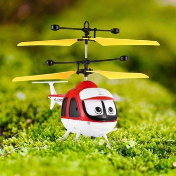 HOT Induction Flying Toys Mini RC Helicopter Cartoon Remote Control Drone Aircraft for Kid Plane Toys Floating Toys Boy Gift