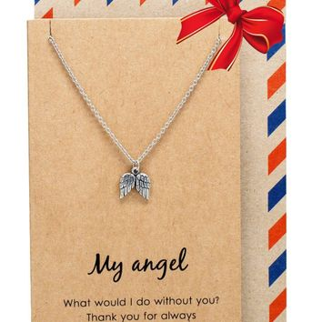 Kaitlin Angel Wings Necklace