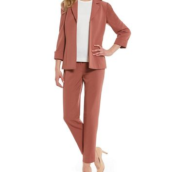 Preston & York Dark Sunbaked Stretch Crepe Suiting Elsy Jacket & Mona Pant | Dillards