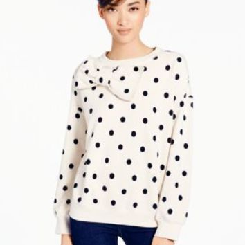 deco dot bow sweatshirt - kate spade new york