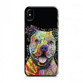 Dog Abstract Pitbull iPhone X Case