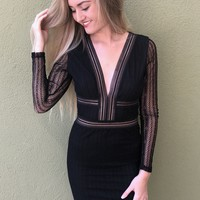 Dancing In The Dark Dress- Black