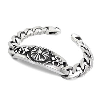 Gift New Arrival Great Deal Shiny Awesome Stylish Hot Sale Cross Vintage Men Titanium Accessory Bracelet [6526710403]