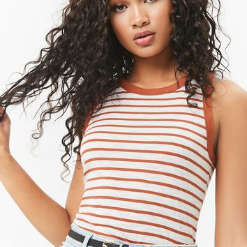 Striped Slub Knit Tank Top