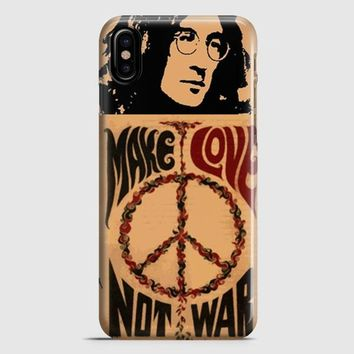 John Lennon Peace And Love iPhone X Case