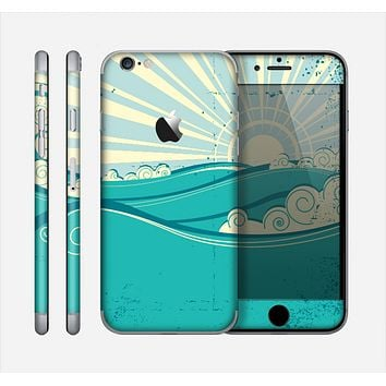 The Retro Vintage Vector Waves Skin for the Apple iPhone 6