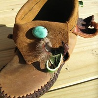 NEW White Owl Medicine Moccasins by TreadLightGear on Etsy