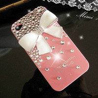 iphone case - iphone 4 case - iphone 4s case - iPhone 4 bow Case bling iPhone 4 case pink iPhone 4 Case Cute iPhone 4 Case iphone 4s cover