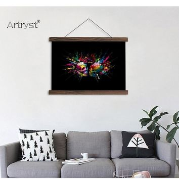 Fantasy Artistic Scroll Painting For Wall Decor