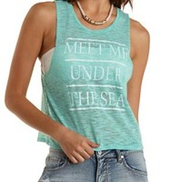 Under the Sea Graphic Muscle Tee by Charlotte Russe